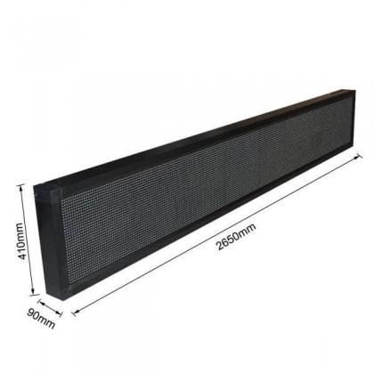 Rótulo electrónico Exterior Pixel 10 Blanco frio 2.65m*0.41m Area-led