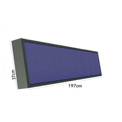 Ecran electrĂ´nico LED 300W Pixel 10 RGB Full Color IP65 1.97*0.37m