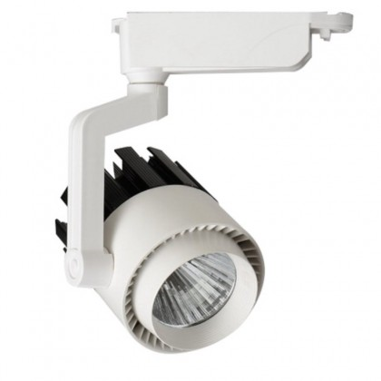 Foco LED 30W NORA Blanco - Negro Carril Monofásico Area-led