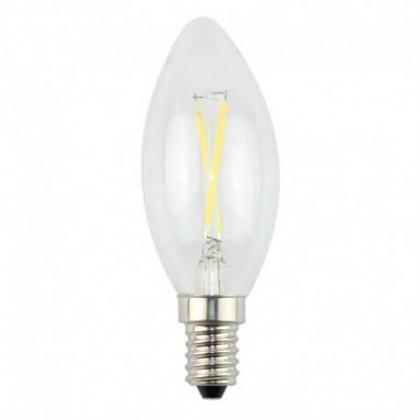 LĂ¢mpada LED vela filamento 3W E14