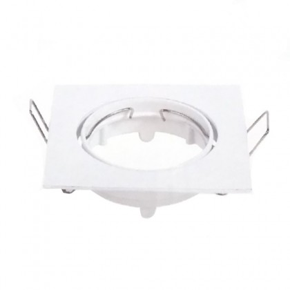 Aro orientable para Dicroica cuadrado Blanco GU10-MR16 Area-led