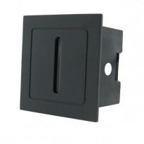 Baliza LED 3W empotrable LINEL Negra IP54 Area-led
