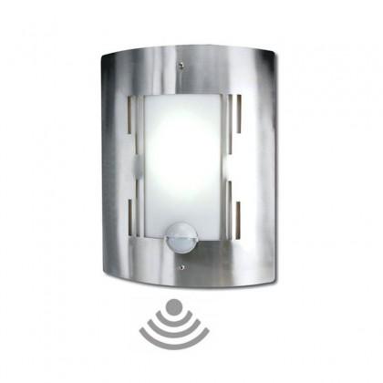 Lámpara de acero inox con sensor de movimiento para Bombilla LED E27