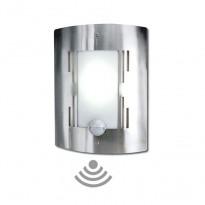 Lâmpada de parede exterior de aço inoxidável com sensor de movimento para lâmpada LED E27