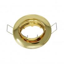 Aro dorado circular orientable para MR16-GU10 Area-led - Iluminación LED