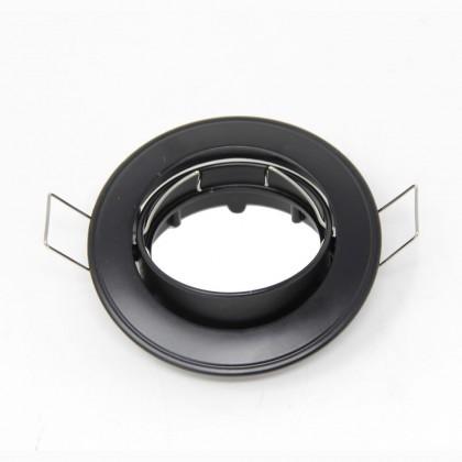 Aro Prateado circular orientĂ¡vel para LED GU10-MR16
