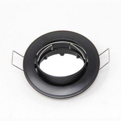 Aro acero circular Negro orientable para MR16-GU10 Area-led