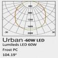 Farola LED 60W URBAN Philips Lumileds SMD 3030 160Lm/W Area-led