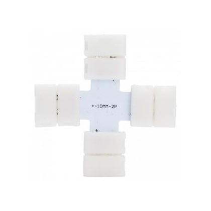 Conector de presión para tira LED monocromática cruz Area-led