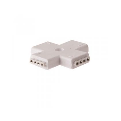 Conector en cruz universal RGB para Tira LED Area-led