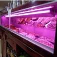 Tubo LED 12W Vidro 90Cm Rosa açougueiro