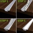 Perfil Aluminio Alas 2m. para encastrar Area-led