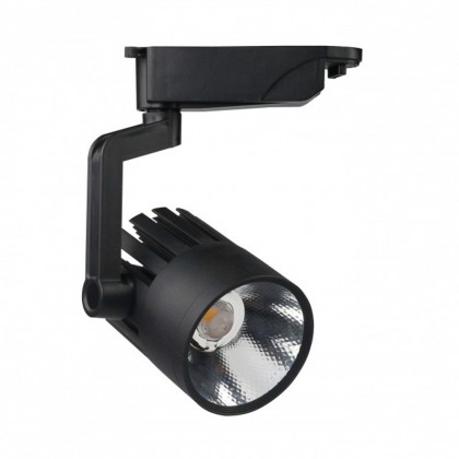 Foco LED 30W ROMA BLACK para Carril Monofásico 35º Area-led