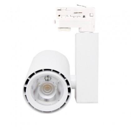 Foco LED 40W BERLIN Blanco para Carril Trifásico 24º CRI +90 Area-led
