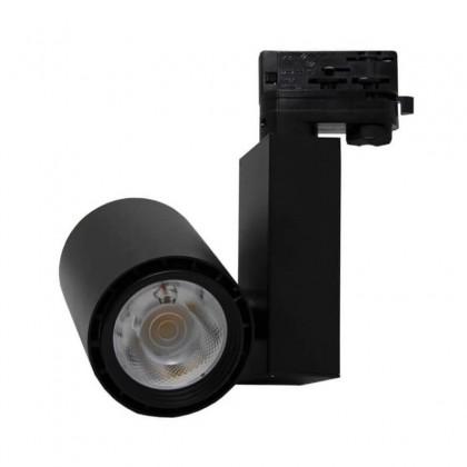 Foco LED 40W BERLIN Negro para Carril Trifásico 24º CRI +90 Area-led