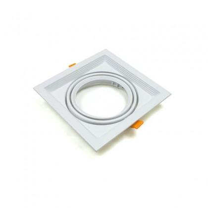 Aro Branco Downlight Quadrado Basculante paraLED AR111