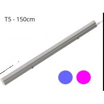 RĂ©gua T5 23W 120º G13 Azul e rosa