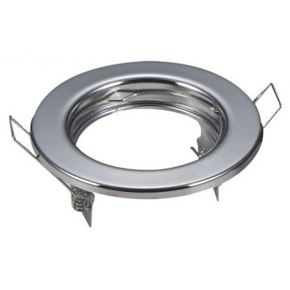 Aro prateado circular para dicroico LED GU10 - MR16