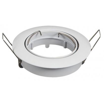Aro branco circular basculante para LED dicroico GU10 - MR16