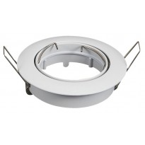 Aro blanco orientable circular para dicroica LED GU10 - MR16 Area-led
