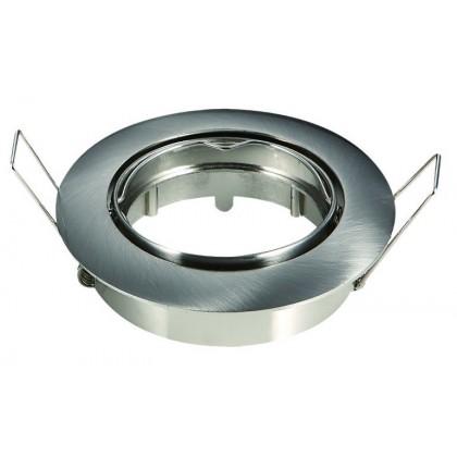 Aro cromado circular para dicroico LED GU10 - MR16