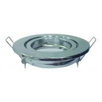 Aro basculante cromado circular para GU10-MR16 - Lamparas Y Bombillas Led