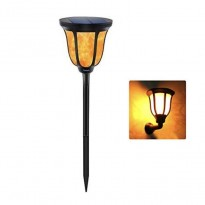 Antorcha Aplique LED Solar con Luz efecto Llama con Pica Area-led -