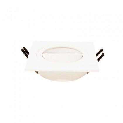 Aro cuadrado Orientable para dicroica LED GU10 MR16 - Aluminio Area-led