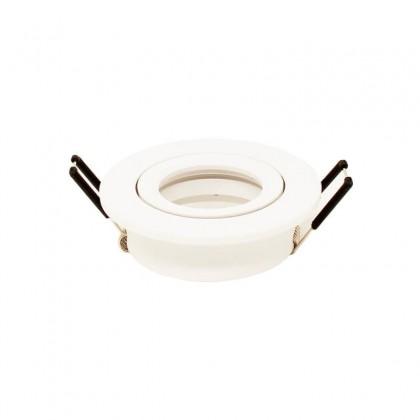 Aro circular Orientable blanco para LED GU10 MR16 - Aluminio IP65 Area-led