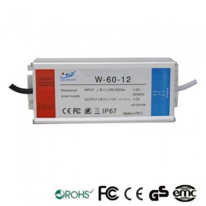 Fuente Alimentación 12V 60W IP67 TECMO Area-led
