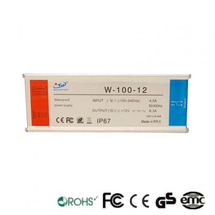 Fonte de AlimentaĂ§Ă£o de 100W 12V IP65 Tecmo