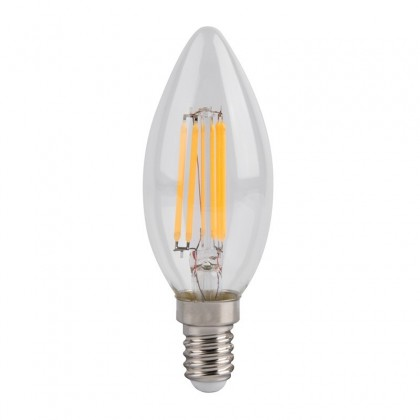 Bombilla LED Filamento Vela 4W E14 C35 Area-led