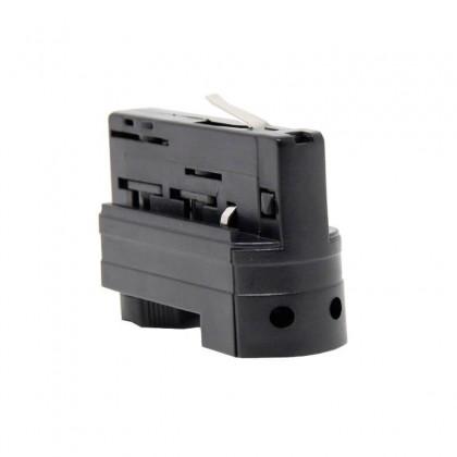 Conector adaptador de carril TRIFASICO Negro Area-led