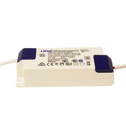 Driver LIFUD para luminarias LED de 40W 950mA -No Flick- 5 años Garantia Area-led