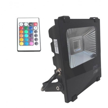 Foco Proyector Exterior LED 10W RGB PROFESIONAL Area-led