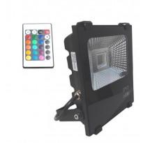 Foco Projector Exterior LED 10W RGB PROFISSIONAL - Jardim E Projetores De Led Ao Ar Livre