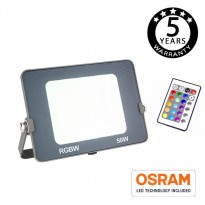 Foco Proyector RGB+W LED 50W AVANCE OSRAM Area-led - Proyectores Led Exterior Y Jardín