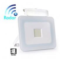 Foco Projector Exterior 30W LED Luxury RADAR Branco - Jardim E Projetores De Led Ao Ar Livre