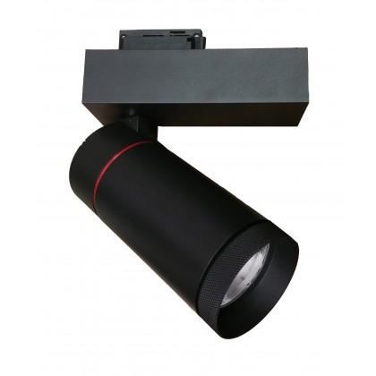 Foco LED 30W LEIA BLACK para carril Monofasico 24º Area-led