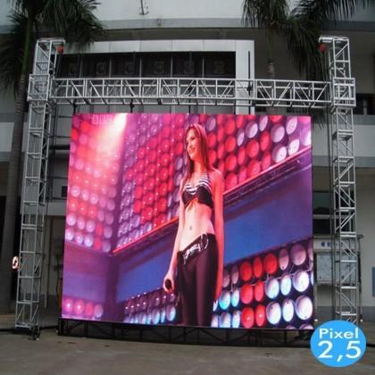 Rótulo Electrónico LED Interior Serie FIJA Pixel 4 RGB Full Color 2m2 (8 Modulos + Control) Area-led