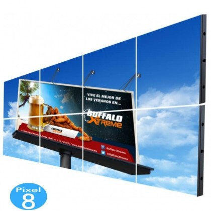 Painel LED RGB Full Color Interior Pixel 8 SERIE FIJI 8,38m2 -(8 mĂ³dulos +Control)