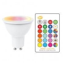 Dicroica LED GU10 5W RGB+W con Mando a Distancia Area-led
