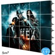 Rótulo electrónico LED Interior Serie RENTAL Pixel 3.91 RGB Full Color 5m2 (20 Modulos Apilable + Control) Area-led