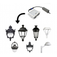 Farola Villa Aluminio LED 40W LUMILEDS Area-led