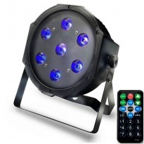 Foco PAR LED 28W DMX LUZ UV - ULTRAVIOLETA - con mando Area-led - Iluminación Espectáculos Led
