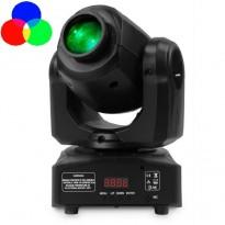 Cabeza Móvil Spot LED 10w BOSTON Blanco + 7 Colores - 7 Gobos Fijos - DMX Area-led