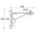 Soporte para Farola modelo Turol 62cm Area-led