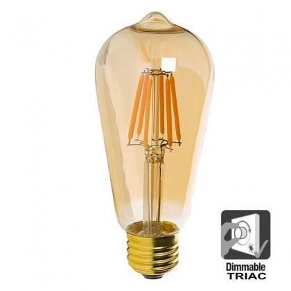 Bombilla LED Filamento Vintage 7W E27 Gold ST64 - Dimmable Area-led
