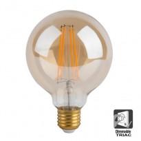 Bombilla LED Filamento Vintage 8W E27 G125 - Dimmable Area-led - Iluminación LED