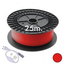 Neón LED CIRCULAR Flexible 220V Bobina 25m 16mm - 9,6W/m - Rojo Area-led